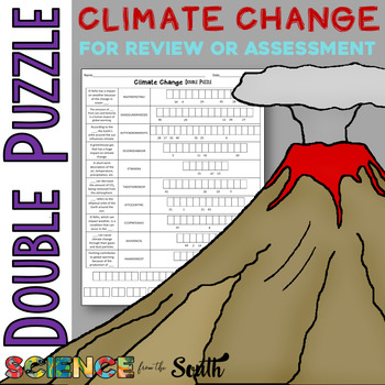 Climate Change Double Puzzle for Review or Assessment