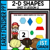 ❤️ 1/2 OFF 48 HRS ❤️ 2-D SHAPES | EARLY FINISHER PPT | UNIT 5 LESSON 2