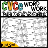 CVCe Print and Go Worksheets