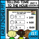 TELLING TIME | EARLY FINISHER PPT | UNIT 5 LESSON 10