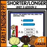 Shorter or Longer | EARLY FINISHER PPT