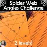 Spider Web Angle Relationships Challenge Halloween Worksheet