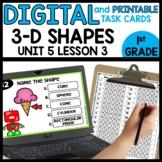 3-D SHAPES | DIGITAL TASK CARDS | PRINTABLE CARDS