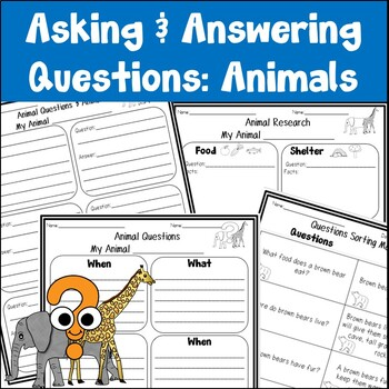 *1/2 OFF FOR 48 HRS* Animals Asking and Answering Questions