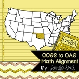 FREEBIE Kindergarten Oklahoma Academic Standards Math Alignment