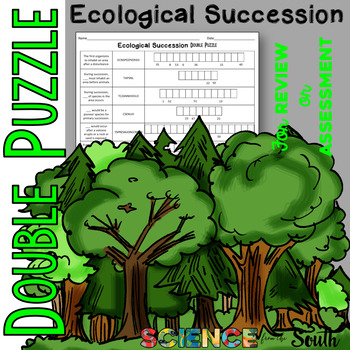 Ecological Succession Double Puzzle for Review or Assessment