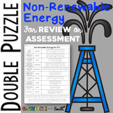 Non-Renewable Energy Double Puzzle for Review or Assessment
