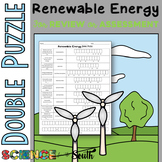 Renewable Energy Double Puzzle for Review or Assessment