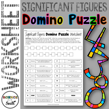 Significant Figures Domino Puzzle For Review Or Assessment Tpt