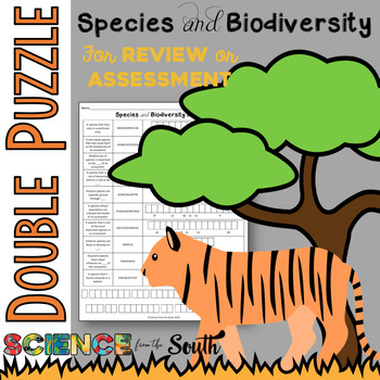 Species and Biodiversity Double Puzzle for Review or Assessment