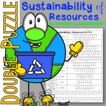 Sustainability of Resources Double Puzzle for Review or Assessment