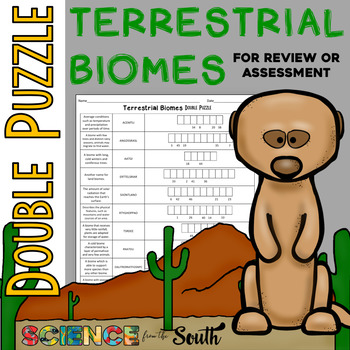 Terrestrial Biomes Double Puzzle for Review or Assessment