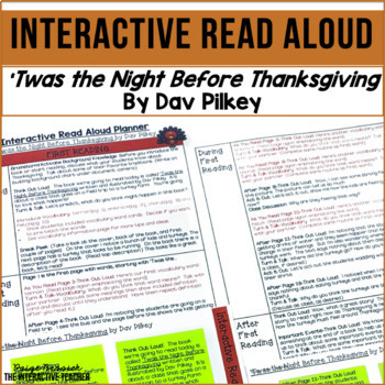 Thanksgiving Read Aloud: 'Twas the Night Before Thanksgiving, Lesson Plans