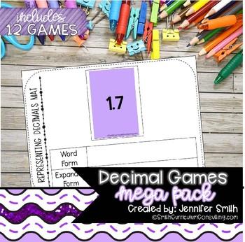 Decimal Games Mega Pack | Decimal Activities | Math Intervention