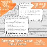 Decimal Place Value Task Cards | TEKS 4.2b | TEKS 5.2a | Math Intervention