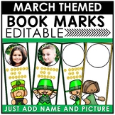 Book Marks MARCH Themed Personalized