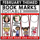 Book Marks FEBRUARY Themed Personalized