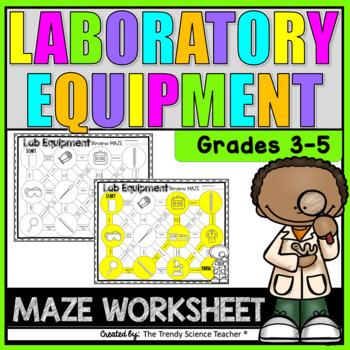 Lab Equipment Maze Worksheet (3rd-5th grade)