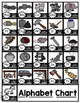 Black and White Phonics Posters {Alphabet Chart}