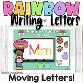 Rainbow Writing Letters | Boom Cards Distance Learning
