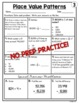 Place Value Patterns 10 to 1 Worksheets