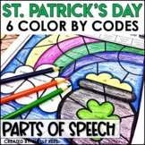 St. Patrick's Day Coloring Pages Parts of Speech Color by Number
