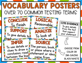 Test Prep Vocabulary Academic Testing Language Packet