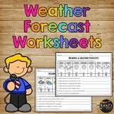 Weather Forecast Worksheets and Questions