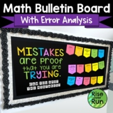 Math Bulletin Board Kit, Middle School Math Mistakes