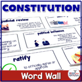 U.S. Constitution Vocabulary Word Wall