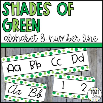 Shades of Green Alphabet Line Posters | Alphabet Cards