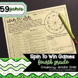 Fourth Grade Spin to Win Games - 59 Spinner Centers for Ma