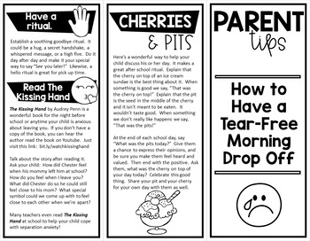 Back to School Brochure for Parents