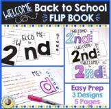 First Day of School Flip Book 2nd Grade