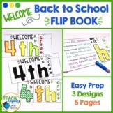 First Day of School Flip Book 4th Grade
