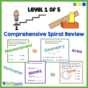 Geometry Measurement Spiral Review Level 1