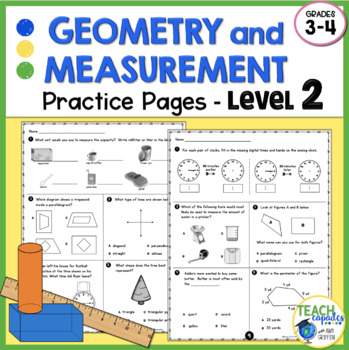Geometry Measurement Spiral Review Level 2