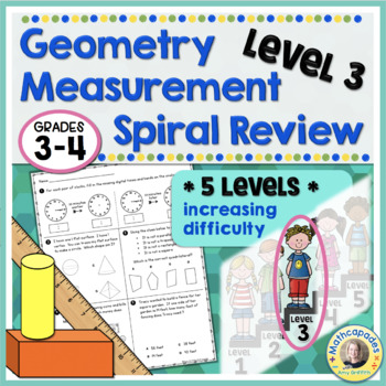 Geometry Measurement Spiral Review Level 3