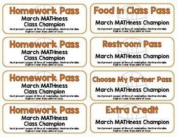 March MATHness Champion Award Passes