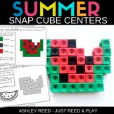 SUMMER THEMED Snap Cube Math Centers