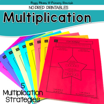 Multiplication Strategies Printables {2's- 10's}