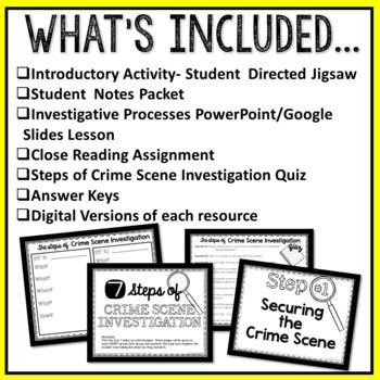 Steps of Crime Scene Investigation