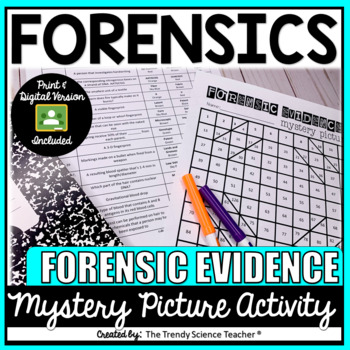 Forensic Evidence Mystery Picture By The Trendy Science Teacher Tpt