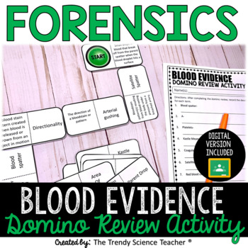 Blood Evidence Domino Review Activity [Forensics]