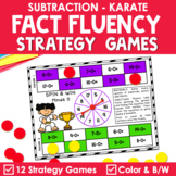 Math Fact Fluency Subtraction Games - Karate Theme