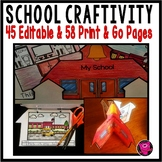 School House Writing and Craftivity for Back to School
