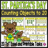 One to One Correspondence 1 to 20 Activities Task Cards for Saint Patricks Day