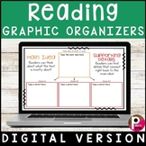 Digital Reading Graphic Organizers - Distance Learning