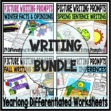 Picture Writing Prompts Bundle for Kindergarten and First Grade