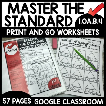 Addition and subtraction worksheets MASTER THE STANDARD 1.OA